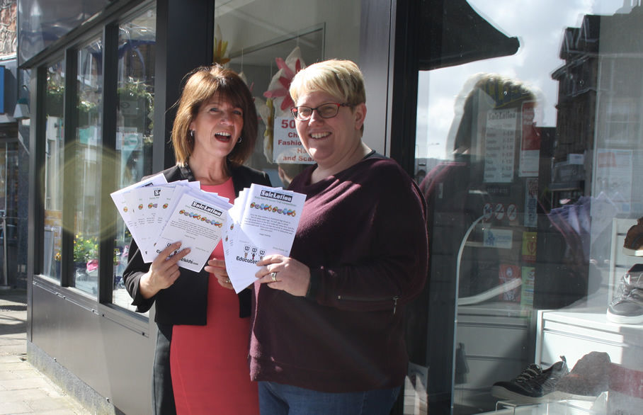 Rozanna Farbrace from Reeds Rains delivers the Easter trail entry forms as she  prepares to launch the Portishead Easter Trail