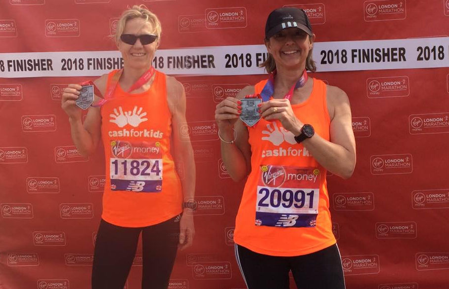 Offerton's London Marathon finishers for Cash for Kids