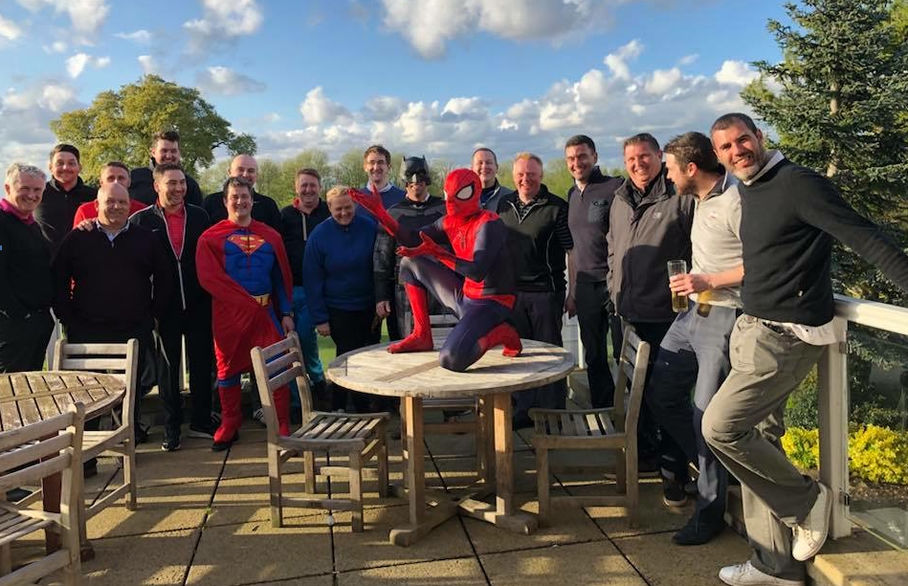 Superhero golfers tee off for Cash for Kids