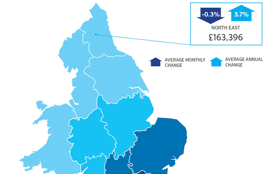 Continued strong performance for North East house prices in June