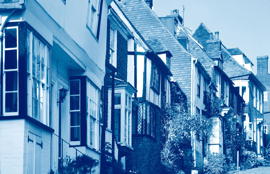 Row of houses in a residential street