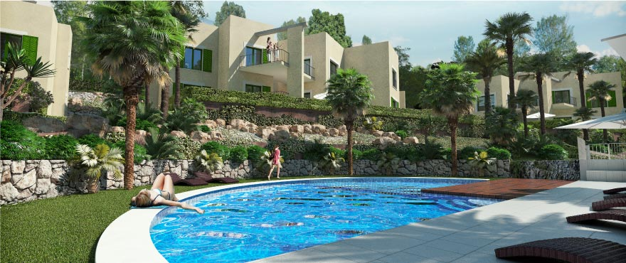 A1 Cala Vinyes Hills Exterior with pool 1