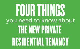 4 things you need to know about the new private residential tenancy