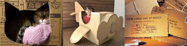 Thinking outside the box - what to do with your cardboard boxes