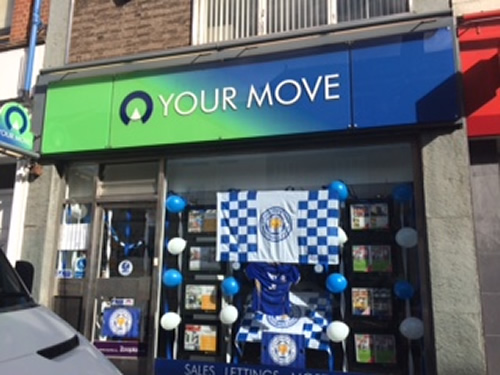 Your Move Leicester branch Celebrating Leicester City's Premier League Title Win!