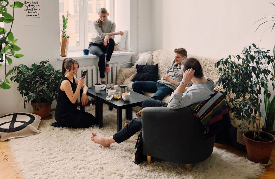 People sitting in a lounge